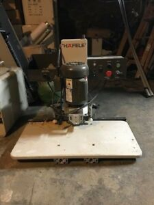 Hafele 2015 Hinge Boring Insertion Machine 110v 60hz 1 Ph Amazing Condition