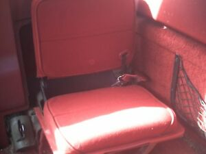 83 92 Ford Ranger Extended Cab Interior Red Cloth Rear Jump Seats
