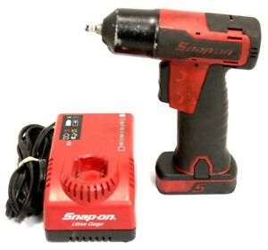 Snap on Cordless Ct725 1 4 Impact Wrench W Ctb8172 Ctc772