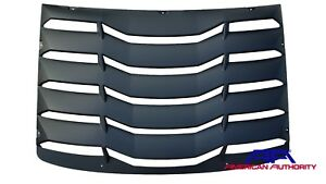 2016 2018 Camaro Rear Window Louver American Authority Abs Matte Black