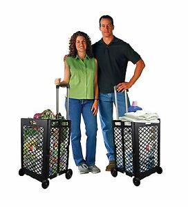 Shopping Cart Basket Storage Rolling Portable Folding Wheel Grocery Laundry Hand