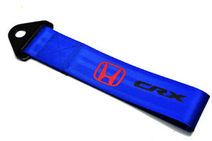 Jdm Honda Crx Racing Universal Front Rear Tow Strap Tow Hook Ribbon Blue