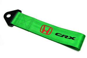 Jdm Honda Crx Racing Universal Front Rear Tow Strap Tow Hook Ribbon Green