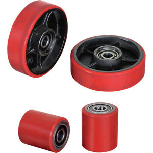 Pallet Jack Replacement Wheel Kit Front And Rear Wheels Polyurethane