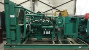 Cummins 500 Kw Standby Natural Gas Generator Gta28 Engine Csdg Stock 2176