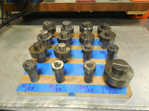 Punch Die Round Lot X 64ths Roper Whitney Diacro 1 Shaft Punch Die