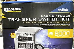 Reliance 306lrk Back Up Transfer Switch Kit Pro Pre Wired 6 Circuit Kit