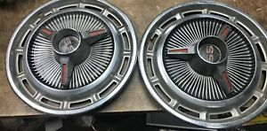 Vintage Chevy Ss Hubcaps Set Of 2