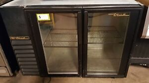 True 2 Glass Door Back Bar Display Beer Wine Drink Cooler Refrigerator Tbb