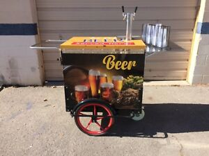 Beer Cart With Double Tap Tower