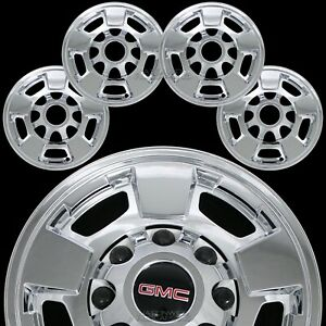 4 Chrome 11 18 Gmc Sierra 2500 3500 Hd 17 Alloy Wheel Skins Rim Covers Hub Caps