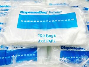 5000 Ziplock Bags 3 x3 Clear 2mil Poly Square Zip Lock 3 X 3 Reclosable Baggies