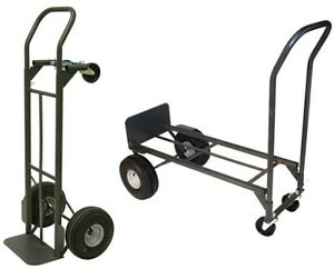 Milwaukee Hand Truck 800 Lb Convertible Vertical Horizontal 2 in 1 Utility Cart
