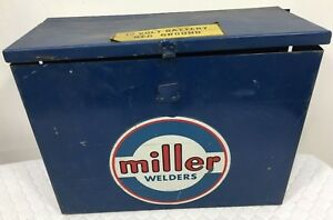 Extremely Rare Vintage Miller Welder 12 Volt Battery Neg Ground Case Wall Mount