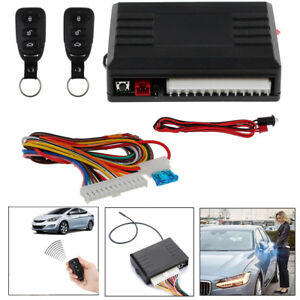 Universal Car 2 Remote Central Kit Vehicle System Dt Entry Door Lock Keyless