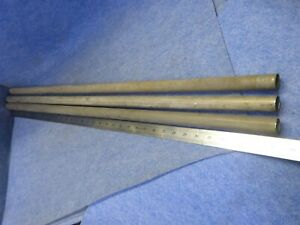 Lot Of 5 Titanium Welded Tubing 1 000 Od X 0 035 Wall X 1m Long Grade 2