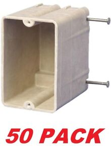 Allied Moulded 9327 n Switch Outlet Box 1 gang Nail on Non metallic 50 Pack