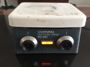 Corning Pc 351 Hot Plate Magnetic Stirrer 5 X 7 120v Stirring Analog Heater
