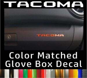 Toyota Tacoma Color Matched Glove Box Inserts Vinyl Decals 2016 2020