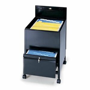 Locking Mobile Tub File Cabinet With Drawer letter Size