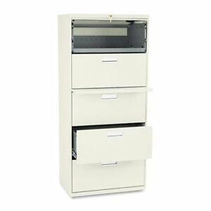 Hon 600 Series 30 Inch Five Drawer Lateral File Cabinet
