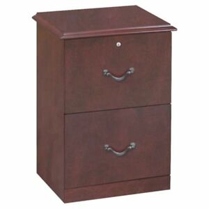 Z line 2 Drawer Vertical File Cabinet Cherry