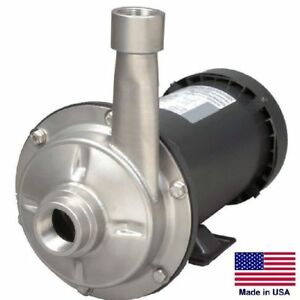 Straight Centrifugal Pump 6120 Gph 1 5 Hp 115 230v 1 5 In 1 25 Out