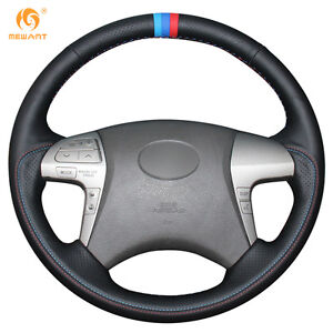 Genuine Leather Steering Wheel Cover For Toyota Highlander Camry 2007 2011 ft69