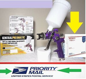 Central Pneumatic Hvlp Spray Gun W Same Day Shipping 3 Day Delivery