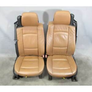2007 2010 Bmw E93 3 series Convertible Factory Front Seat Pair Brown Leather Oe