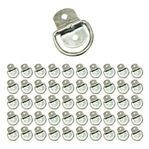 50 Rope Rings Tie Down D Ring Enclosed Trailer Cargo Strap Chain Tarp 1200 Lb
