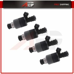 4 Fuel Injectors For Chevy S10 Cavalier Pontiac Sunfire Hombre 2 2l 6 Holes