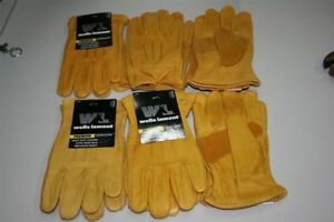 6 Pairs Wells Lamont Heavy Duty Leather Work Glove Premium Xtra Large Cowhide Xl