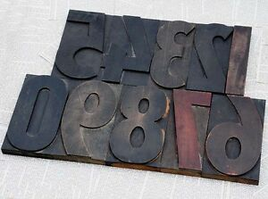 Giant Numbers 0 9 Rare 7 09 Letterpress Wooden Type Woodtype Number Wood Number