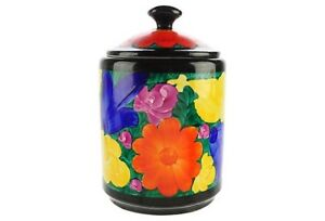 Czech Art Deco Mrazek Hand Painted Jar