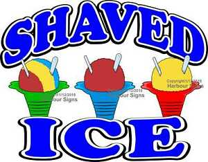 Shaved Ice Decal choose Your Size Food Truck Concession Vinyl Sticker