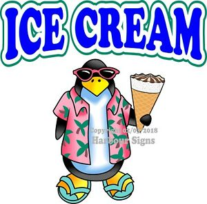 Ice Cream Decal choose Your Size Food Truck Concession Vinyl Sticker