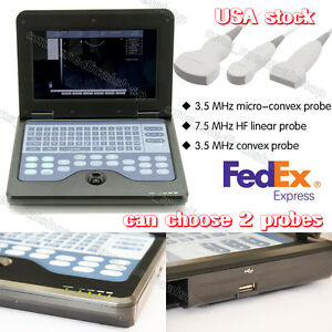 Notebook Machine B Ultrasound Scanner Ultrasonic Scanner With 2 Probe