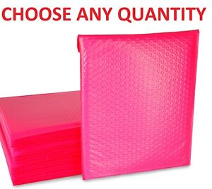 0 6x10 Hot Pink Poly Bubble Mailers Shipping Mailing Padded Envelopes 6 X 9