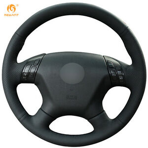Black Genuine Leather Steering Wheel Cover For Honda Accord 7 2004 2007 Bt43