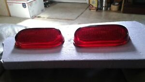 1940 s Nos Chevrolet Parts Glass Tail Lights Fleetline Stylemaster Deluxe Oem
