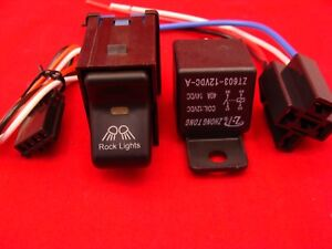 Rocker Switch Rock Lights On Off Jeep Tj Wrangler And Relay 40 Amp
