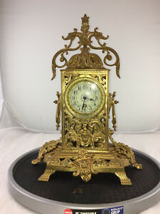 Guilt French Rococo Clock French Clock