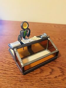 Designer Desk Metal Colored Glass Welded Person Desk Phone Papers