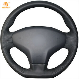 Leather Steering Wheel Cover For Citroen 2014 Elysee Peugeot 301 2013 16 Xl01
