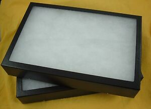 Two Jewelry Display Case Riker Mount Display Collectors Frame 12 X 16 X 1 1 4
