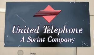 Vintage Original United Telephone Sprint Hanging Sign