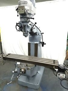 Bridgeport Milling Machine 42 Inch Table Mill Miller 2hp Variable Speed P Feed