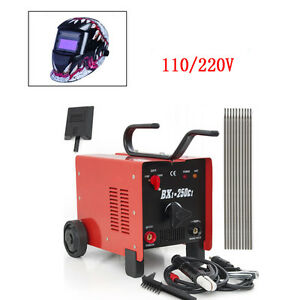 250 Amp Arc Stick Welder 110 220v Welding Machine Welding Helmet Accessories