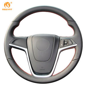 Leather Steering Wheel Cover For Buick Opel Mokka 2013 16 Insignia Zafira Ob07